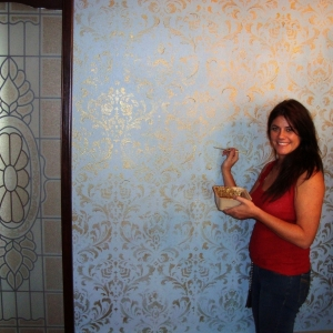 me painting damask