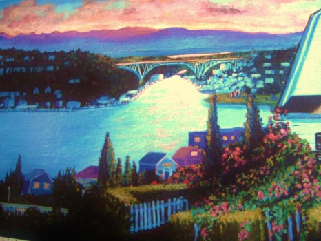 House Portrait  with view of Lake union SOLD
