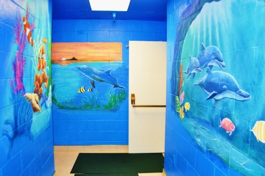 Underwater Sea Life themed for the Swimming Pool area.of the hotel.