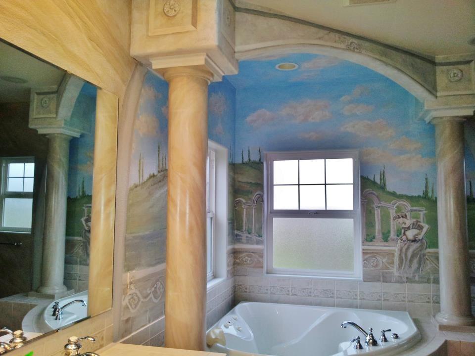 Italian/ Roman bath Mural