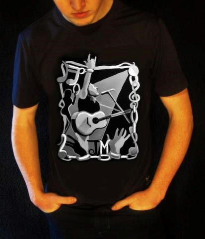 Slave to the Music T-shirt Design