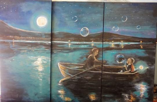 Colors of a dream ~3 large canvas set for sale