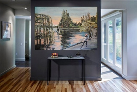No sugar tonight in my coffee ~ large canvas for sale