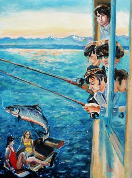 Beatles Fishing in Seattle 1964