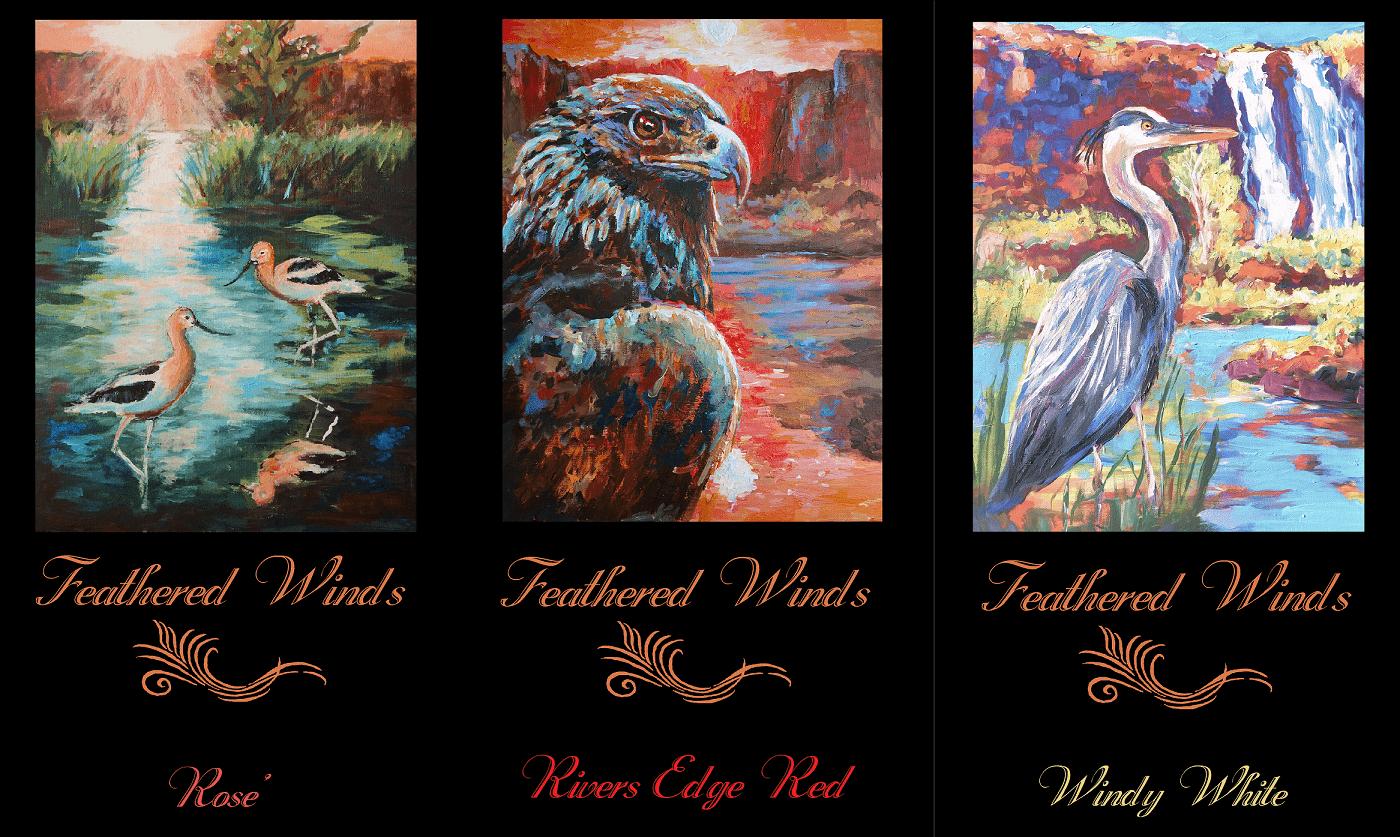 three wine label comparison